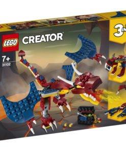 dragon llameante lego